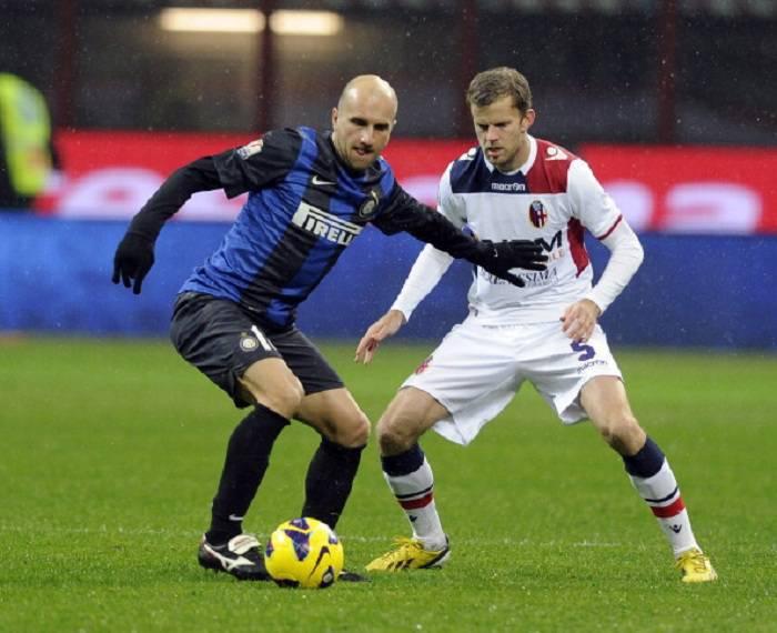 Un momento della gara di questa sera tra Inter e Bologna (Getty Images)