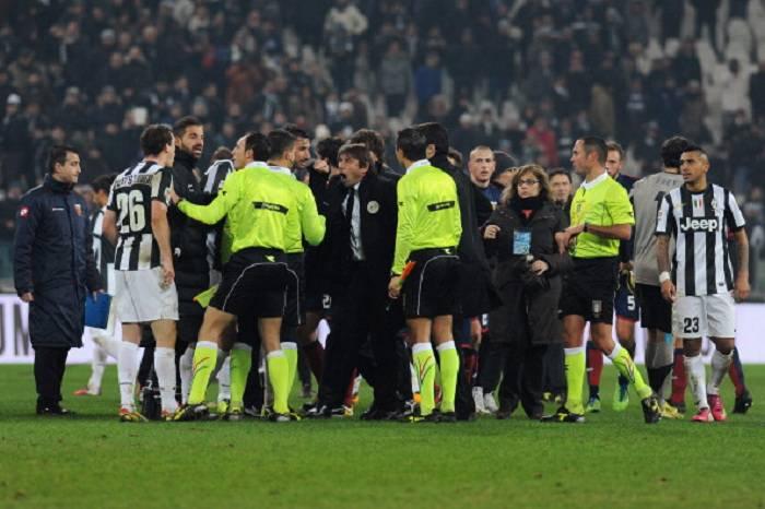 Le proteste juventine alla fine di Juventus Genoa (Getty Images)