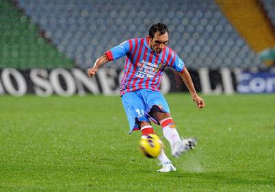 Il centrocampista del Catania Francesco Lodi (Getty Images)