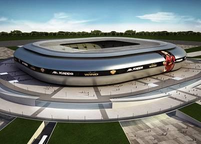 Il modello del nuovo stadio della Roma