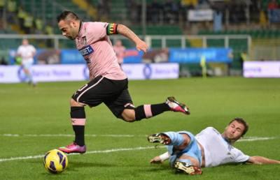 Un'immagine della partita appena conclusa tra Palermo e Lazio (Getty Images)