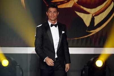 Cristiano Ronaldo alla cerimonia di consegna del Pallone d'Oro (Getty Images)