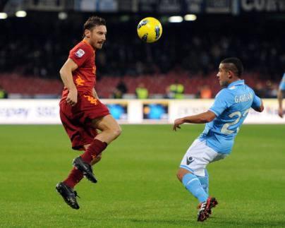 Francesco Totti durante la gara con il Napoli dello scorso anno (Getty Images)