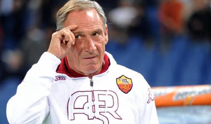 Il tecnico della Roma Zdenek Zeman