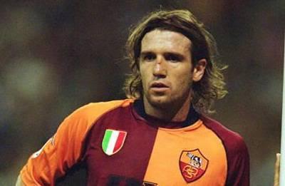 Vincent Candela con la maglia della Roma