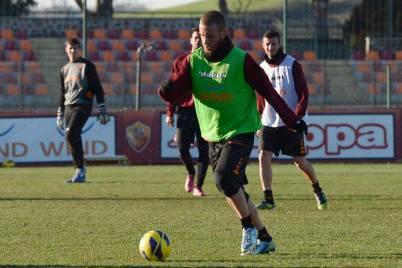 Daniele De Rossi in allenamento