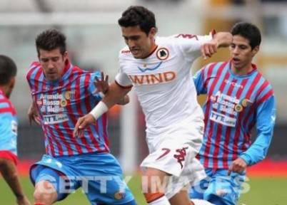 Marquinho nel match di Catania