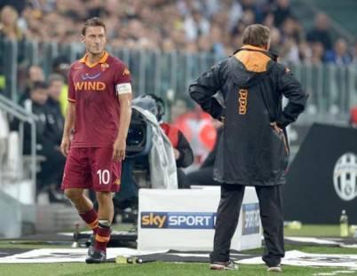 Totti sostituito da Zeman