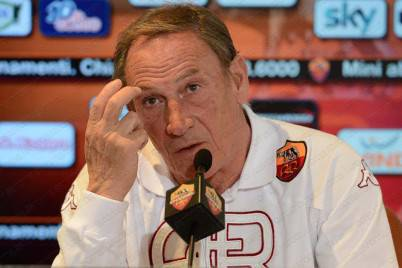 Zdenek Zeman in conferenza stampa