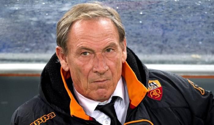 Il tecnico giallorosso Zdenek Zeman