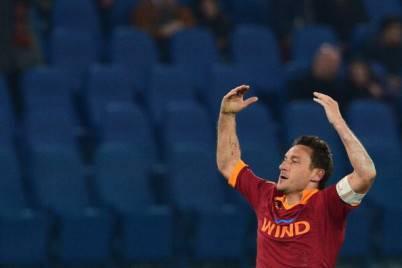 Francesco Totti durante Roma-Juventus