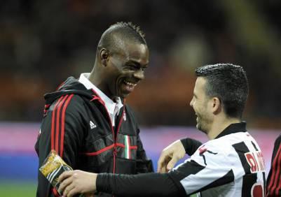 Mario Balotelli e Antonio Di Natale (Getty Images)