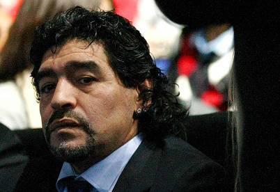 L'ex fuoriclasse argentino Diego Armando Maradona