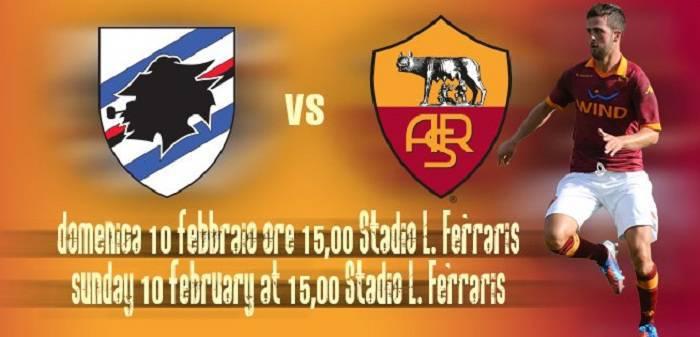 Alle ore 15.00 inizierà Sampdoria - Roma