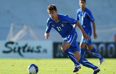 L'attaccante del Liverpool Fabio Borini