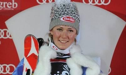 La sciatrice statunitense Mikaela Shiffrin