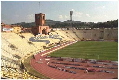 Un'immagine dello stadio Dall'Ara di Bologna