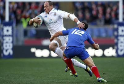 Sergio Parisse contro la Francia