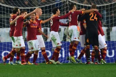 La Roma festeggia
