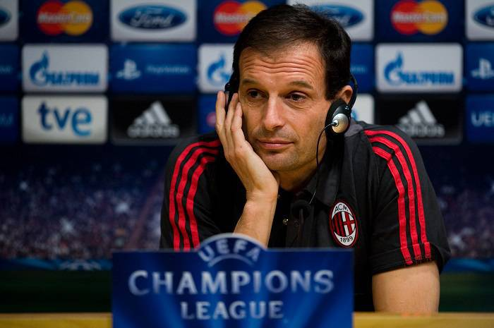Il tecnico del Milan Massimiliano Allegri (Getty Images)