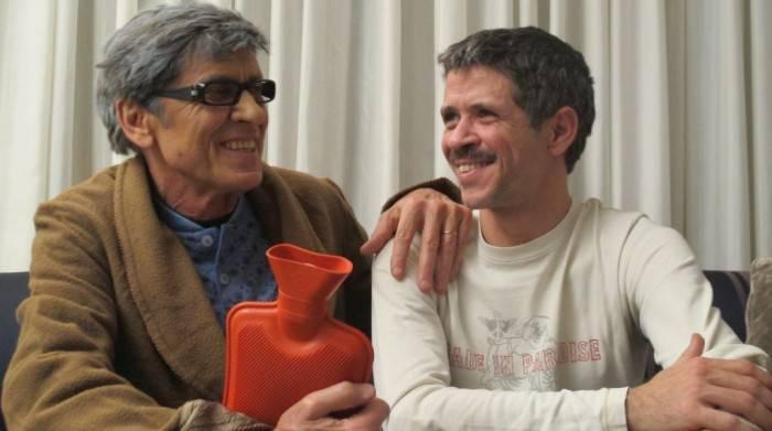 Gianni e il figlio Marco Morandi in una curiosa foto