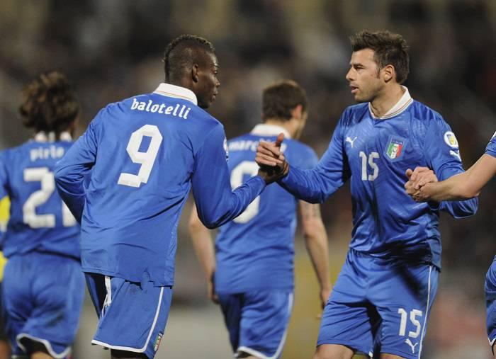 Gli Azzurri in esultanza per la vittoria contro Malta (Getty Images)