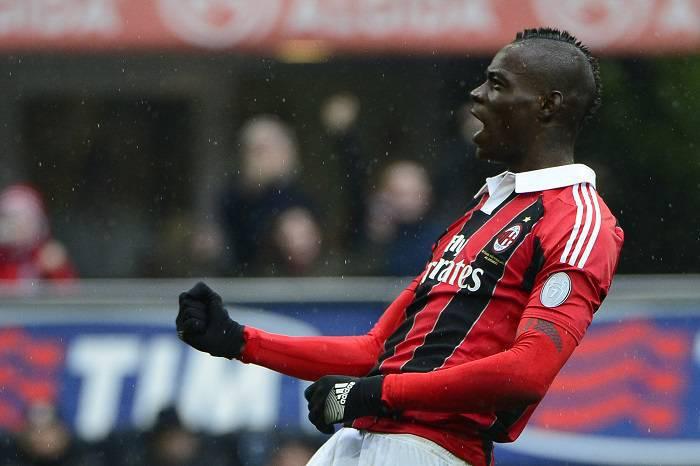 L'attaccante del Milan Mario Balotelli (Getty Images)