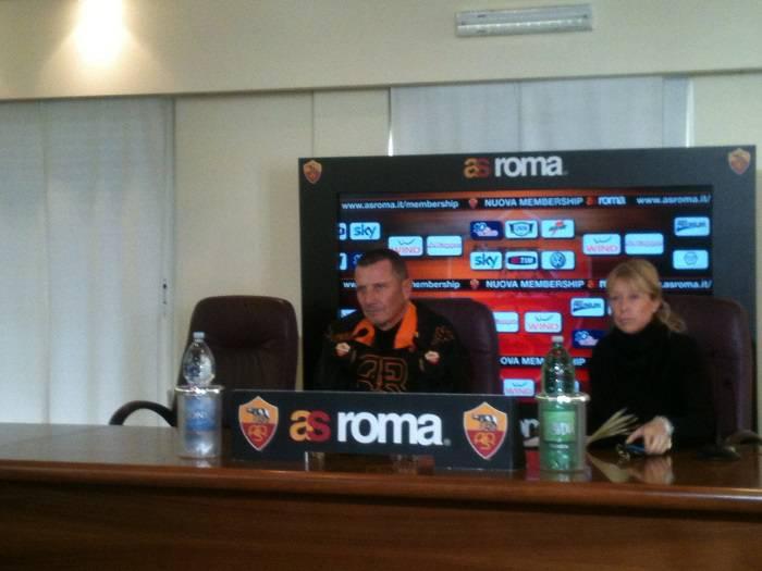 Il mister Aurelio Andreazzoli in conferenza stampa (Foto Asromalive.it)