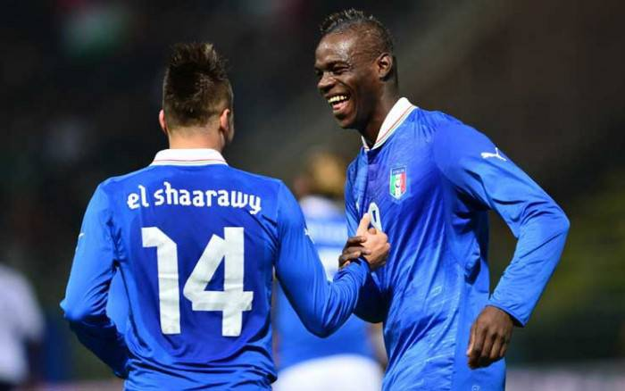 Italia-Brasile, Balotelli ed El Shaarawy