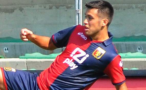Il centrocampista del Genoa Cristobàl Jorquera