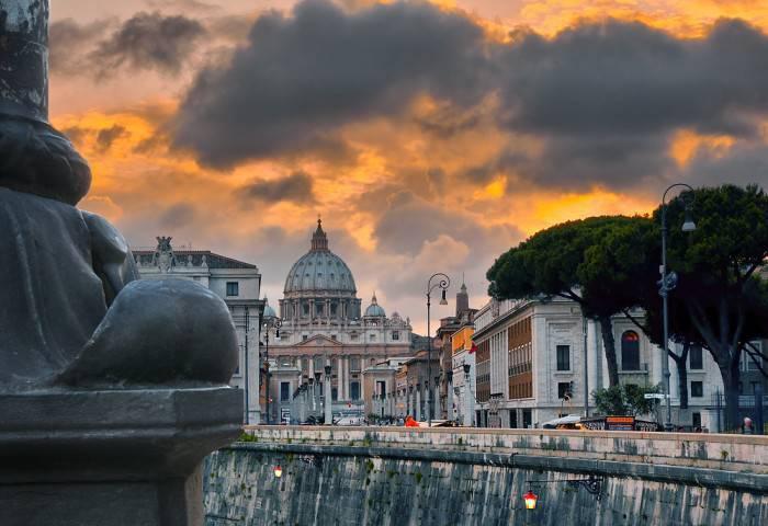 Il tramonto su Roma