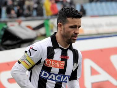 L'attaccante dell'Udinese Antonio Di Natale