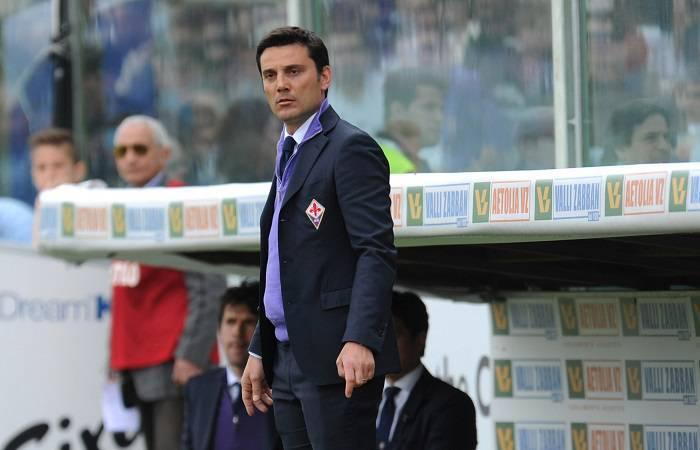 Il tecnico della Fiorentina Vincenzo Montella