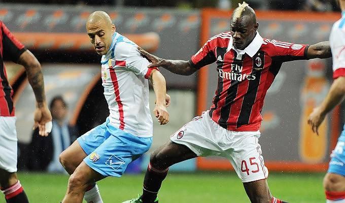 Balotelli in Milan-Catania