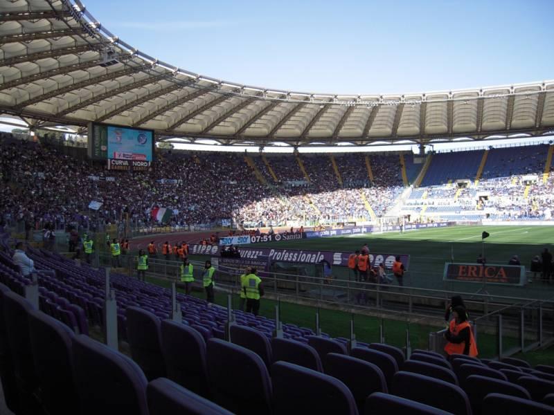 La tribuna Montemario dello stadio Olimpico
