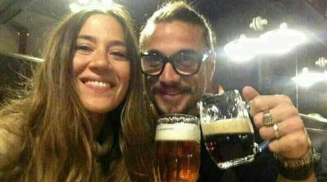 Pablo Daniel Osvaldo con la sua fidanzata