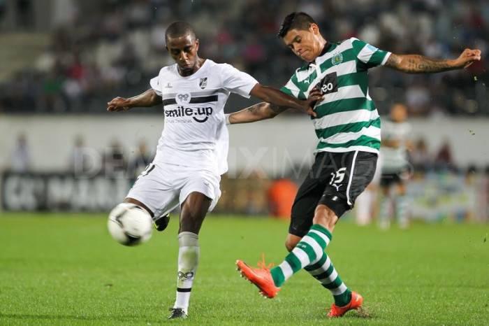 Marcos Rojo con la maglia dello Sporting
