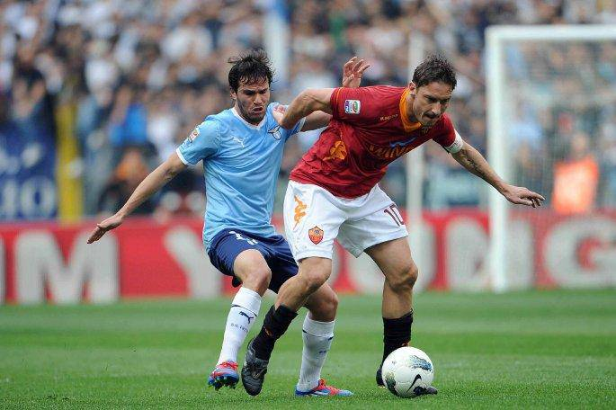 Totti nel derby dello scorso anno