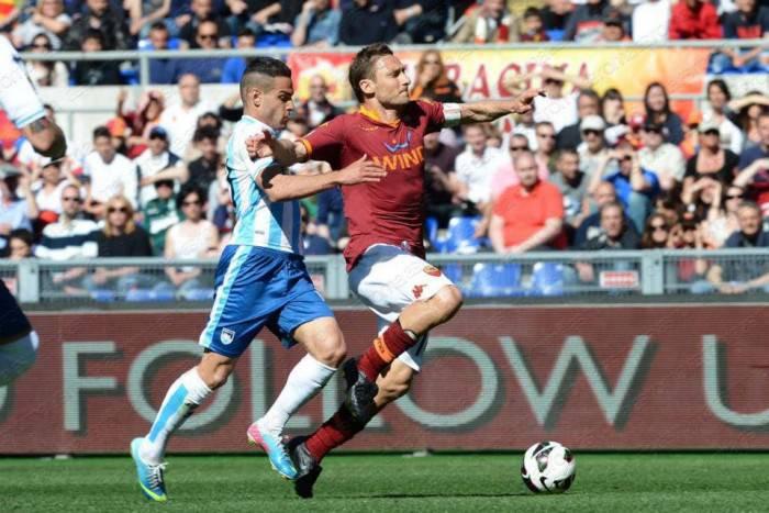 Totti e Celik in Roma-Pescara