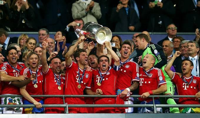 Il Bayern Monaco festeggia la sua quinta Coppa dei Campioni (Getty Images)