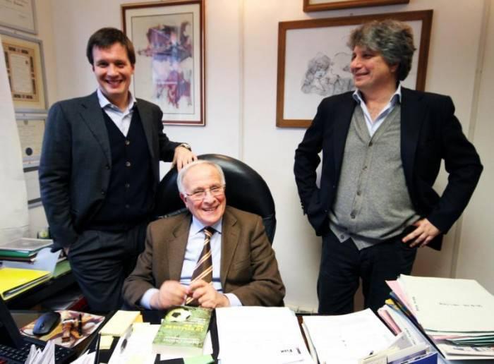 Dario Canovi con i figli Simone e Alessandro