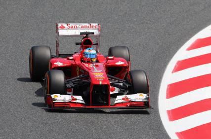 Fernando Alonso durante il GP DI Barcellona