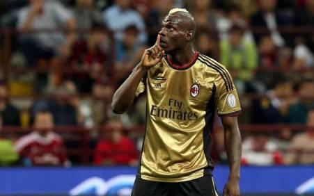 L'attaccante del Milan Mario Balotelli