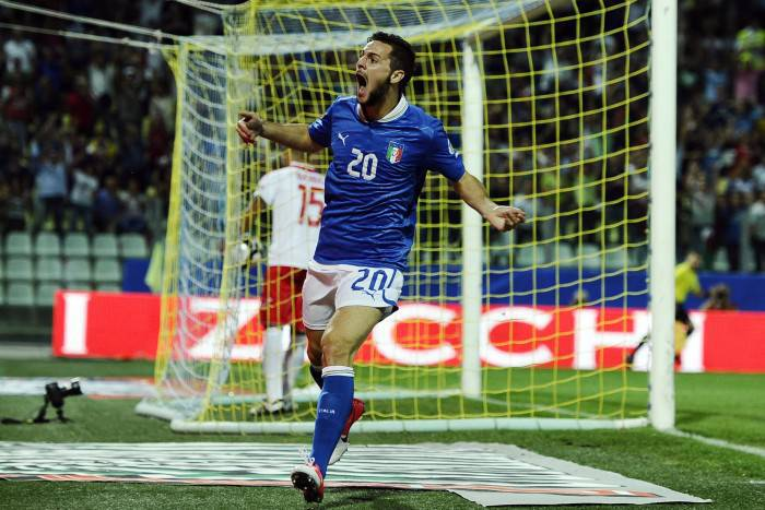 Mattia Destro in maglia azzurra