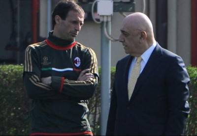 Allegri e Galliani a Milanello