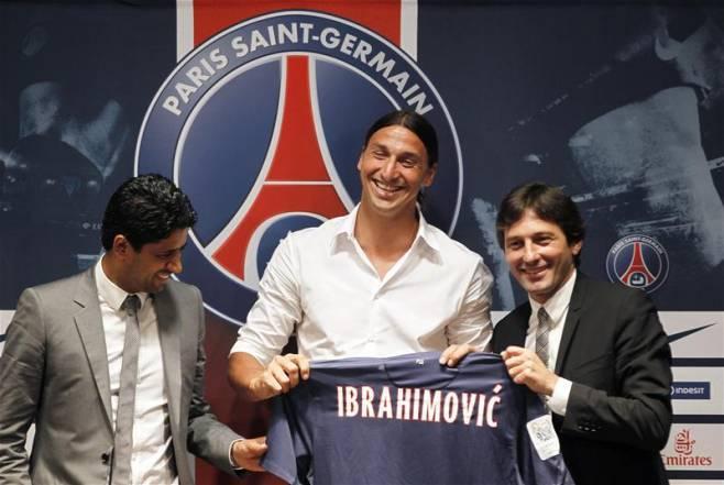 Ibrahimovic con Leonardo
