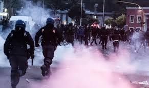 La Polizia nei pressi dell'Olimpico