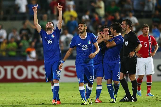 Bertolacci mentre esulta coi suoi compagni di squadra (Getty Images)