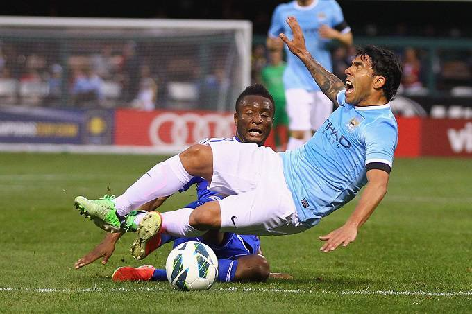 Carlos Tevez con la maglia del Manchester City (Getty Images)