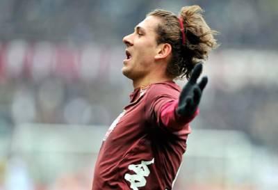 Il centrocampista del Torino Alessio Cerci